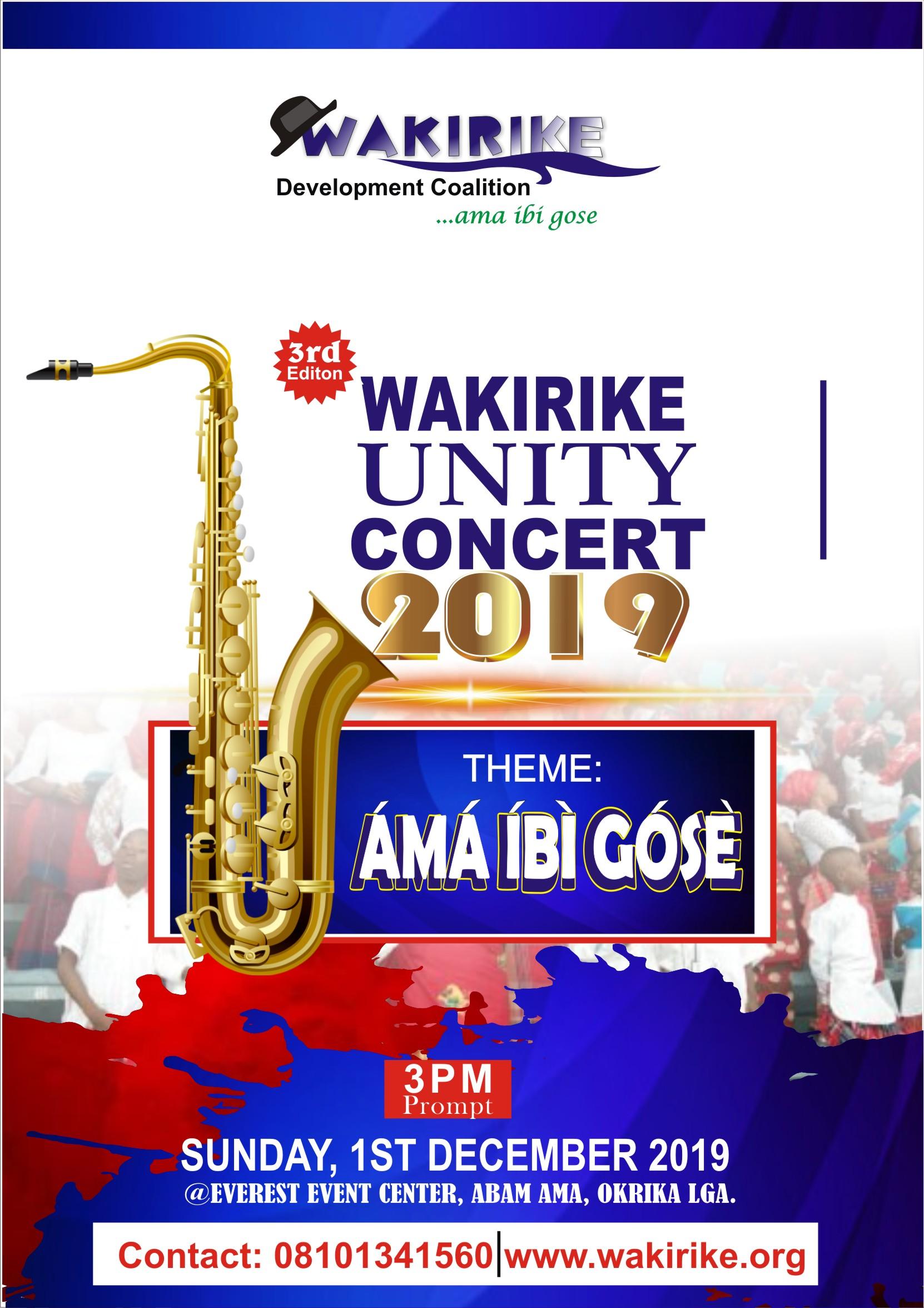 Wakirike Unity Concert 2019